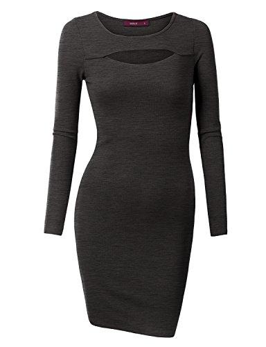 Doublju Women Sleeve Unique Dress