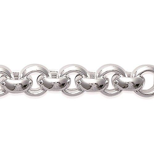 MARY JANE - Bracelet Argent Femme - Long:20cm / Larg:10mm - Argent 925/000 rhodié