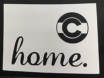 "CMI689 Home Colorado Vinyl Die Cut Decal/Bumper Sticker for Windows, Cars, Trucks, Laptops, Etc.   7.5"" X 5.5"""