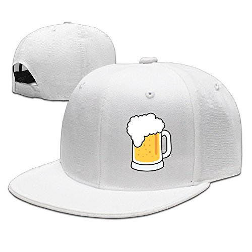 xssyz-i-love-beer-flat-bill-snapback-baseball-cap-white