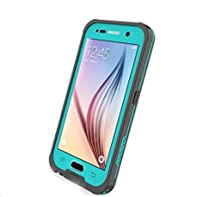 Galaxy S6 Case Waterproof, iThrough S6® Underwater Case with Kickstand, Dust/Snow/Shock Proof Case with Touched Screen Protector,Heavy Duty Protective Carrying Cover Case for Galaxy S6(Blue2)