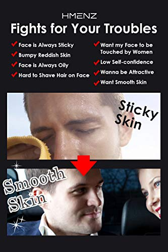 for Men s Oily Skin HMENZ Face Wash Foaming for Men Made in Japan Facial Cleanser for Sensitive Dry Acne Skin 3.53Oz 100g