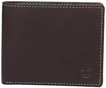 Timberland Men's Antique Leather Passcase Bifold Wallet, Brown, One Size