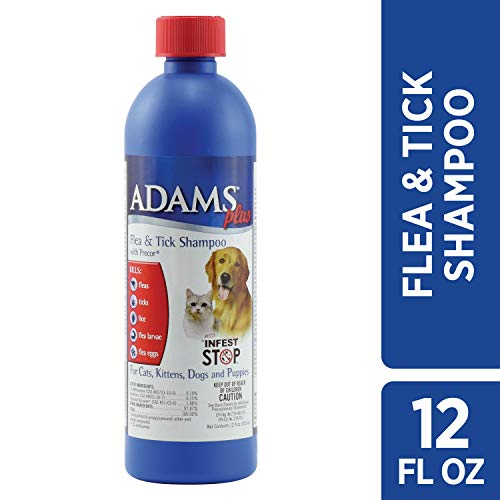 Adams Plus Flea and Tick Shampoo with Precor, 12 Ounce