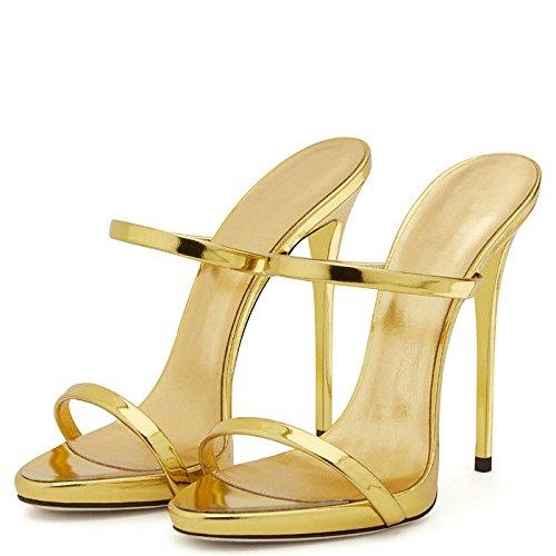 AIWEIYi - Sandalias romanas mujer dorado