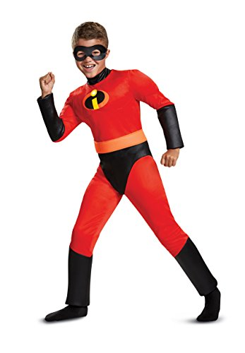 (Disguise Dash Classic Muscle Child Costume, Red,)