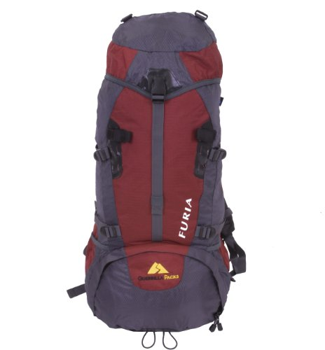 Guerrilla Packs 65L Furia Internal Frame Hiking Camping Travel Backpack (RedGray), Outdoor Stuffs