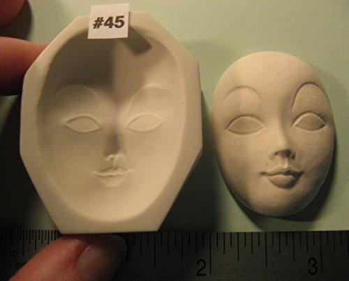 #0045 - Rigid Polymer Clay Round Oval Sun Moon Doll Face Cab Push Press Mold Mould