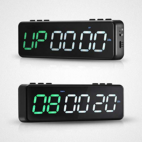 SEAAN Draagbare Fitness Training Timer Fitness Timer met Bluetooth APP Controle, Muur Gym Timer met 11 Timing Modes…
