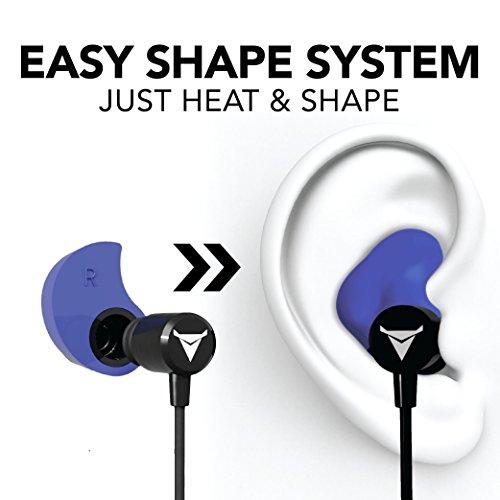 d6e153cc37b Decibullz - Custom-Fit Bluetooth Wireless Headphones, The First Custom  Molded Wireless/Bluetooth Earphones (Blue)