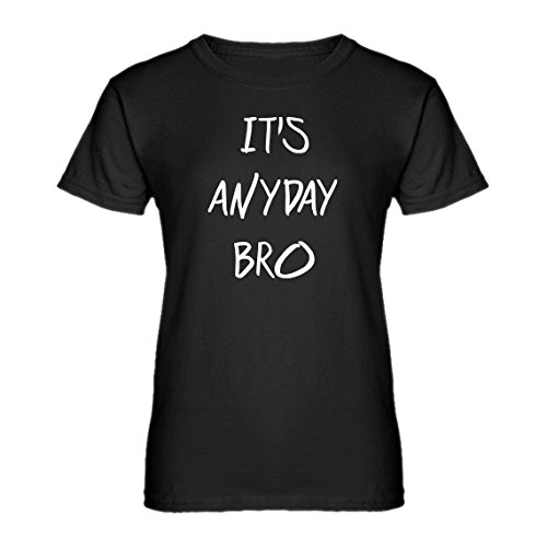 Indica Plateau Womens Its Anyday Bro Medium Black T-Shirt (Jake Paul Like A God Church Shirt)