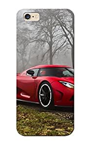 Freshmilk Iidvm0WeyTu Protective Case For Iphone 6 Plus(trees Red Lights Cars Fog Koenigsegg Koenigsegg Agera R Sports Cars Koenigsegg Agera ) - Nice Gift For Lovers