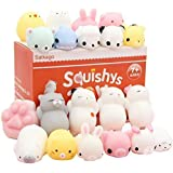 Satkago Mochi Squishys Toys, 20 Pcs Mini Mochi Squishies Toys Party Favors for Kids Panda Squishys Kawaii Squishys Cat Stress Reliever Toys