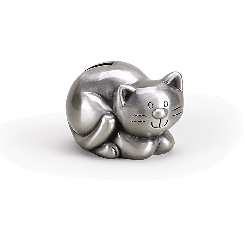 Jewelry Adviser Gifts Pewter Finish Kitty Bank (Kitty Charm Italian)