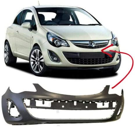 Front Bumper Primed No Pdc Or Washer Holes Compatible With Corsa D 2011-2014 Trade Vehicle Parts OP1083