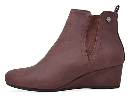 New Ankle Low PAIRS Women's Wedge Zoie Burgundy DREAM Boots EFOSUxqFW