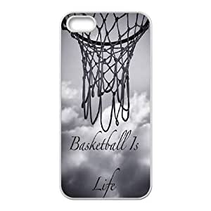 basketball Design Discount Personalized Hard Case Cover for iPhone 5,5S, basketball iPhone 5,5S Cover by runtopwell
