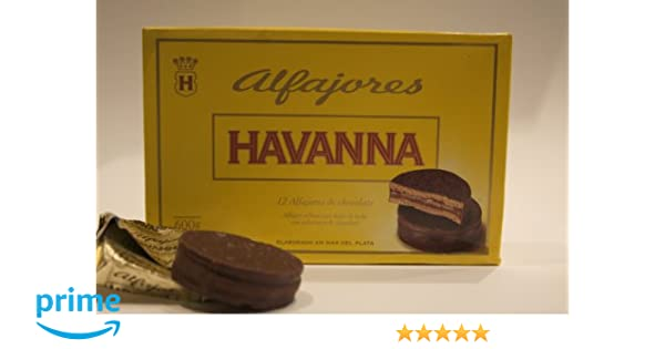 Amazon.com: Alfajores Havanna de chocolate rellenos de dulce de leche (12 units)