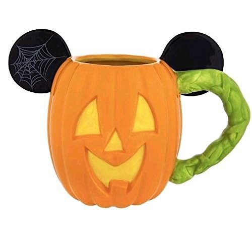 Disney Parks Mickey Mouse Pumpkin Halloween Ceramic Coffee Mug (Halloween Pumpkins Disney)