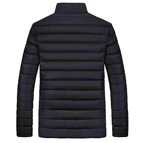 Veste Hommes Tefamore noir Épais Coton Manteau Zipper Hiver Chaud Y Stand xZq6waFY
