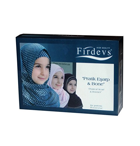 Firdevs Islamic Girl Child Practical Amira Hijab Two Piece Muslim Scarf & Bonnet - Instant Easy Hijab (Ivory)