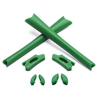 Earsocks & Nosepiece for Oakley Flak Jacket/Flak Jacket XLJ Sunglass (Green, 0)