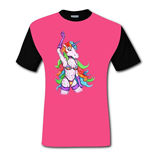 (CODOIT Unicorn Stripper Short Sleeve Crew Neck T Shirt for)