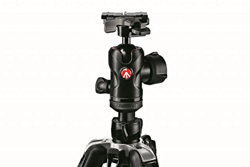 "Manfrotto 494 Aluminum Center Ball Head with 200PL-PRO Quick Release Plate, 3.9"" Height, 17.6 lbs Capacity"