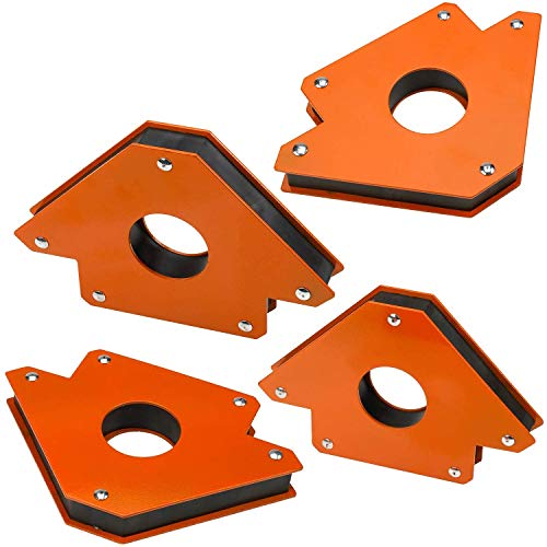 Katzco Magnetic Welding Holder - Arrow Shape For Multiple Angles - Holds Up To 50 Lbs For Soldering, Assembly, Welding, And Pipes Installation