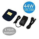 44w Charger for Microsoft Surface Pro 2017 & Surface Laptop,KABCON 15V 2.58A Power Supply for Microsoft Surface Go,Surface Pro 3 Pro 4 & Surface Book with 6.2Ft Power Cord Including a Storage Pouch