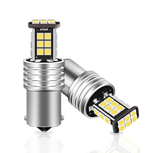 HITBEAM Super Bright 1156 LED Bulb White 1600 Lumens 1141 1003 BA15S 7506 LED Bulbs for Car Back Up Reverse Lights,Brake Lights,Tail Lights,6500K Xenon White (Pack of 2)