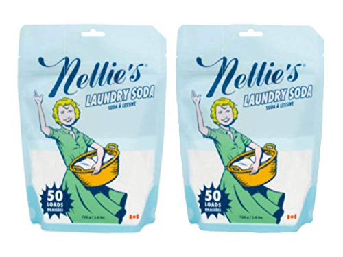 - Nellie's Laundry Soda, 50 Load Bag (Pack of 2)