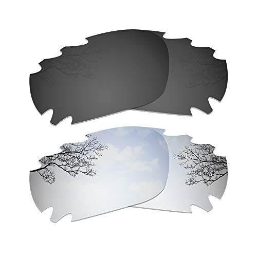 Dynamix Polarized Replacement Lenses for Oakley Jawbone/Racing Jacket - Multi Options (Solid Black + Titanium, Polarized ()