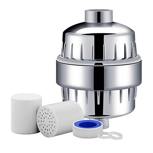 AquaHoms 10-Stage Shower Filter with 2 Cartridges - Universal Head Purifier Also Adds Vitamin C for Skin and Hair Health, Showerhead Filter High (Best Vitamin For Skins)