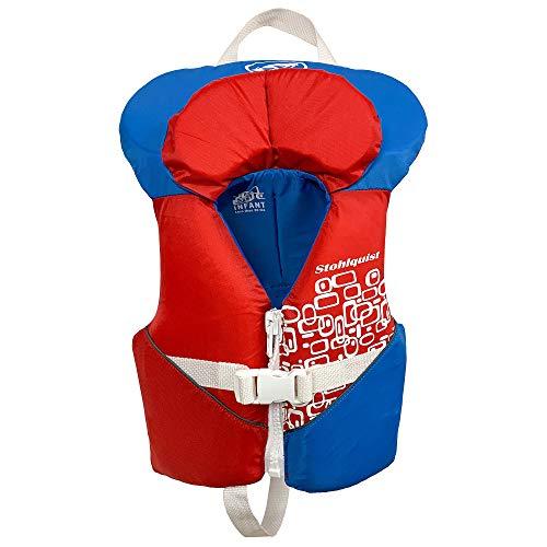 - Stohlquist Toddler Life Jacket Coast Guard Approved Life Vest for InfantsRed/White/Blue-Infant