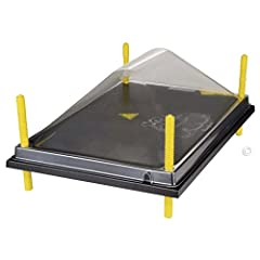 "We strongly recommend using the cover, as it prevents older chicks from perching on top of the plate and keeps top of plate clean. An alternative to a heat lamp that uses much less electricity. Uses 66 watts/hr. 16"" x 24"" heat plate accommoda..."