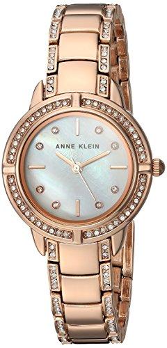 Amazon.com: Anne Klein Womens AK/2976MPRG Swarovski Crystal Accented Rose Gold-Tone Bracelet Watch: Anne Klein: Watches