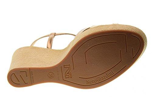 Nero Wedge P805671D 434 Giardini Dorato Bronzo Shoes Sandals Women's 66twAqgr