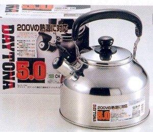 JapanBargain Stainless Steel Water Tea Kettle, IH 5, 0 Liter #H-1740