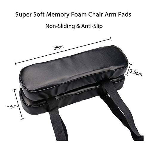 Hangang Chair Armrest Pads and Memory Foam Elbow Pillow for Forearm Pressure Relief,Universal Chair Arm Cover,for Home and Office by hangang (Image #3)