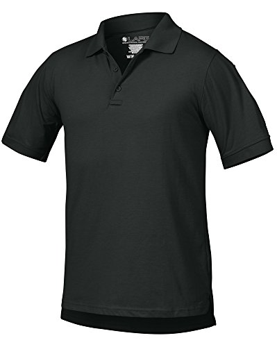 LA Police Gear Men Antiwrinkle Operator Tactical Short Sleeve Polo Shirt - OD Green - M ()