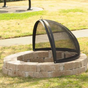 32-Inch Fire Pit Easy Access Spark Screen by Hampton's Buzaar (Image #2)