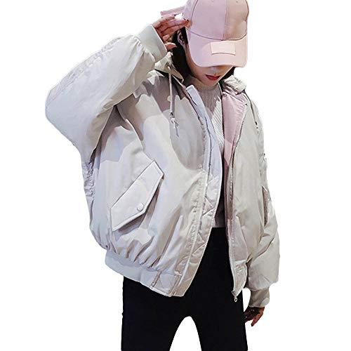 Npradla Abrigo Mujer Para Liso Capucha Impermeable Manga Casual Larga Blanco rrSwadq