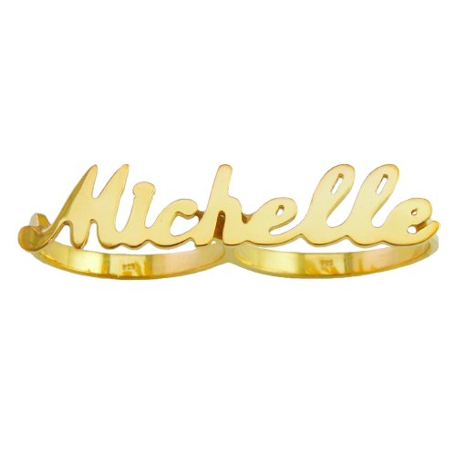 Sterling Silver Script Name Ring - 6