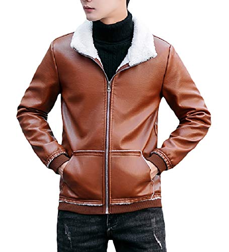 Jacket Bomber Men 1 Leather Coat Howme Comfort Velvet Lapel Plus Pu Izn7w6