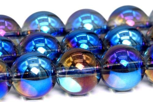 10mm Natural Blue Crystal Quartz Gemstone Beads Grade Round Loose Beads 15