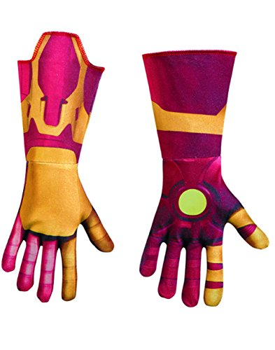 Iron Man Mark 42 Deluxe Child Gloves Costume Accessory (Deluxe Costume Gloves)