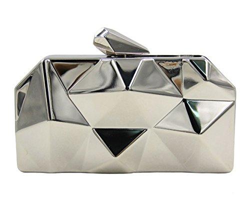 wedding trends Zinc wallet White 3 HopeEye clutch silver Fashion Evening Womens waistbag Alloy bag tqwE8