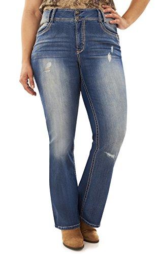 WallFlower Junior's Size Instastretch Luscious Curvy Bootcut Jeans, Elaine/Elaine, 16 Plus ()