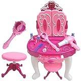 Girls Make Up Desk Stool Plus Remote Control Mirror Play Set Mp3 Input